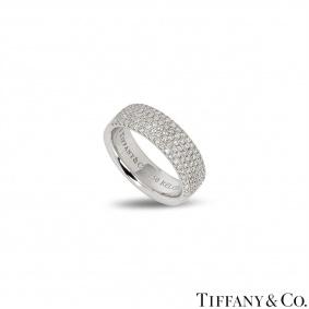 Tiffany & Co. White Gold Diamond Band Ring 0.76ct G/VS
